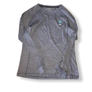 Fitbit Logo shirt with thumbholes gray Medium